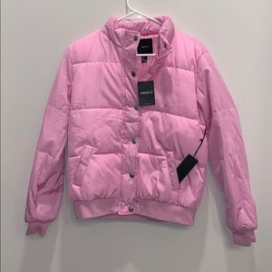 Baby Pink Puffer/Bomber Jacket
